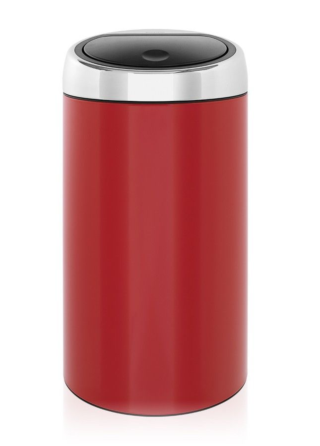 brabantia poubelle touch bin 45 litres lipstick red. Black Bedroom Furniture Sets. Home Design Ideas