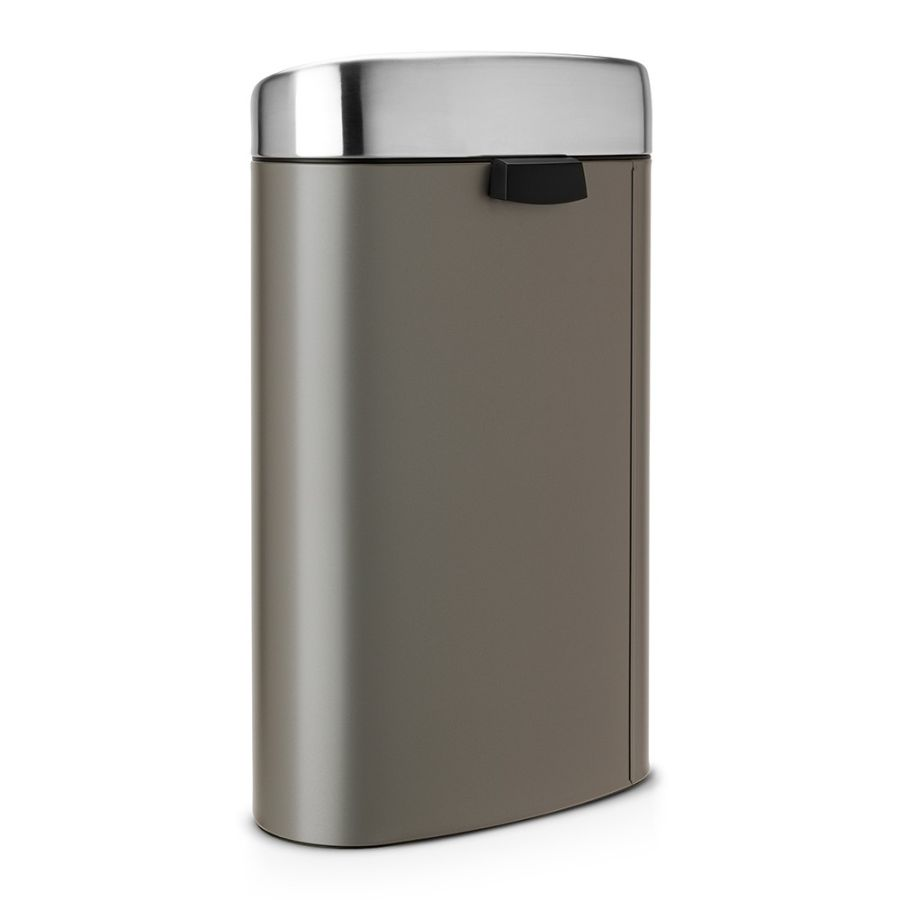 brabantia poubelle touch bin 40 litres platinum with. Black Bedroom Furniture Sets. Home Design Ideas