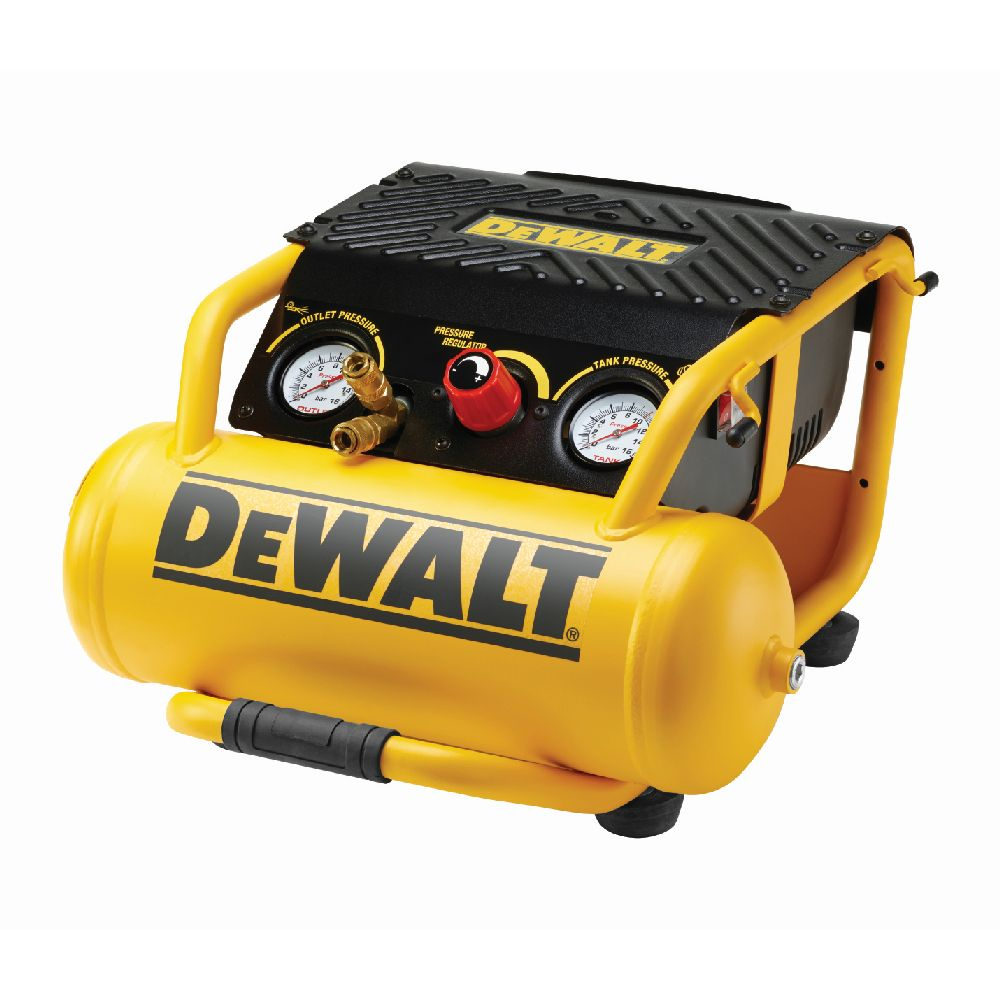 dewalt compresseur 10l portable de taille moyenne avec 2. Black Bedroom Furniture Sets. Home Design Ideas