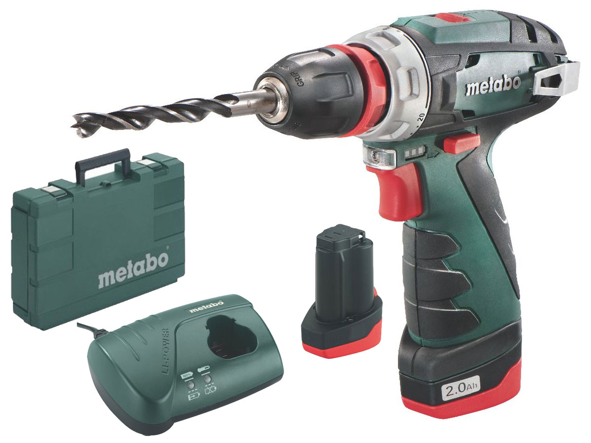 metabo akku bohrschrauber powermaxx bs quick basic 2 akkus lader ebay. Black Bedroom Furniture Sets. Home Design Ideas