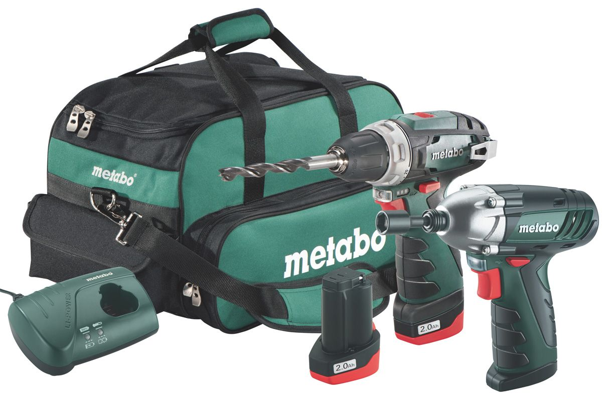 metabo 10 8 v akku bohrschrauber powermaxx bs akku schlagschrauber powermaxx ssd. Black Bedroom Furniture Sets. Home Design Ideas