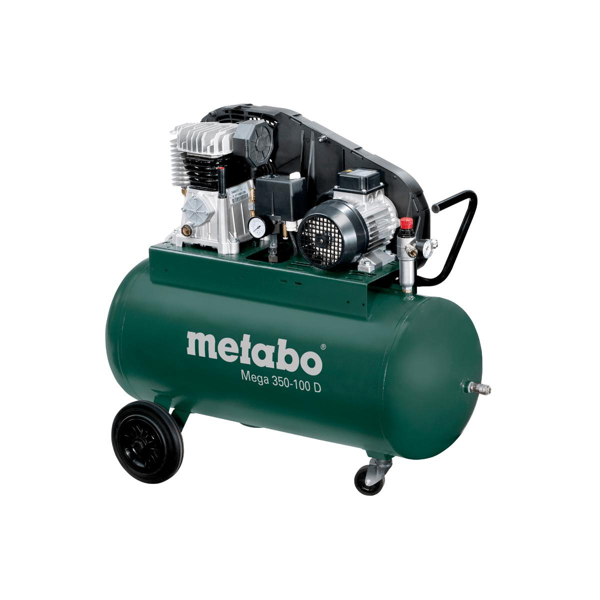 metabo kompressor mega 350 100 d 400v 90 liter 10 bar. Black Bedroom Furniture Sets. Home Design Ideas