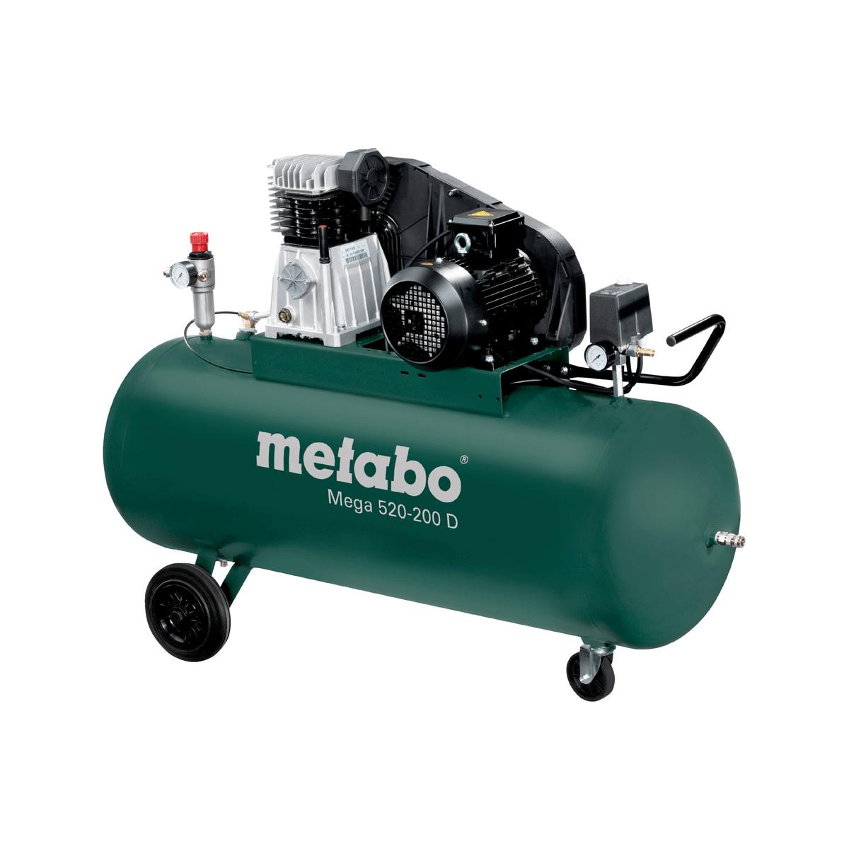 metabo kompressor mega 520 200 d 400v 200 liter 10 bar. Black Bedroom Furniture Sets. Home Design Ideas