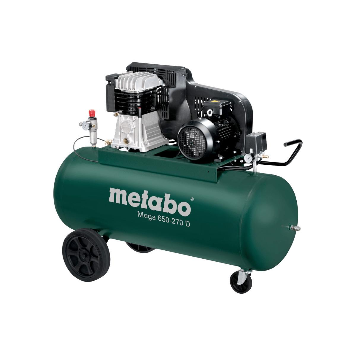 metabo kompressor mega 650 270 d 400v 270 liter 10 bar. Black Bedroom Furniture Sets. Home Design Ideas