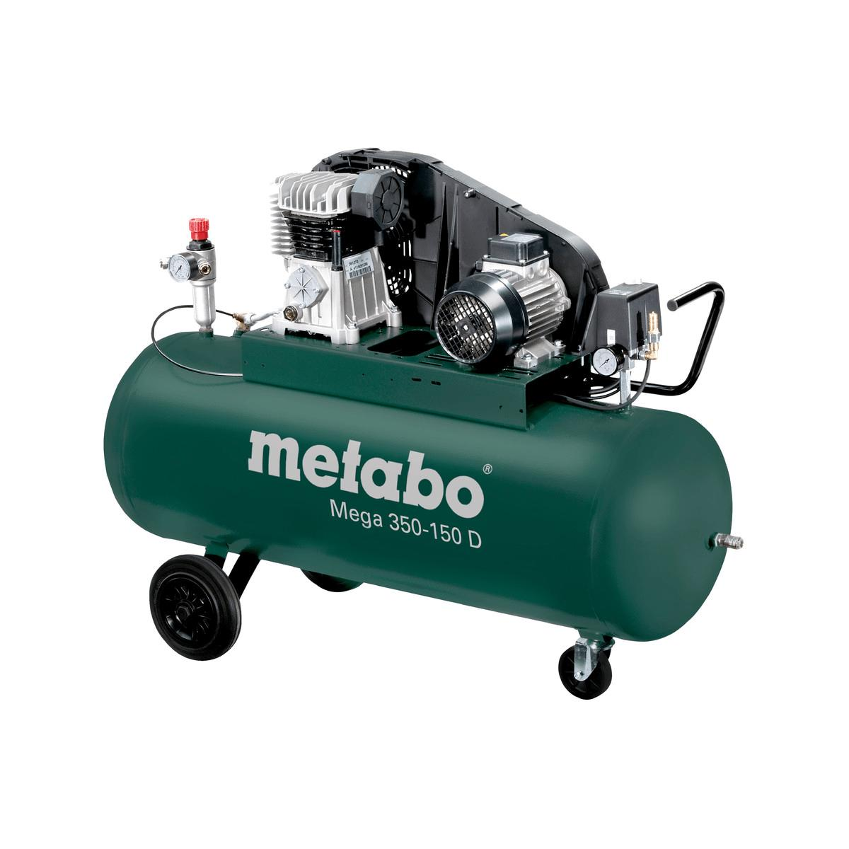 metabo kompressor mega 350 150 d 400v 150 liter 10 bar. Black Bedroom Furniture Sets. Home Design Ideas