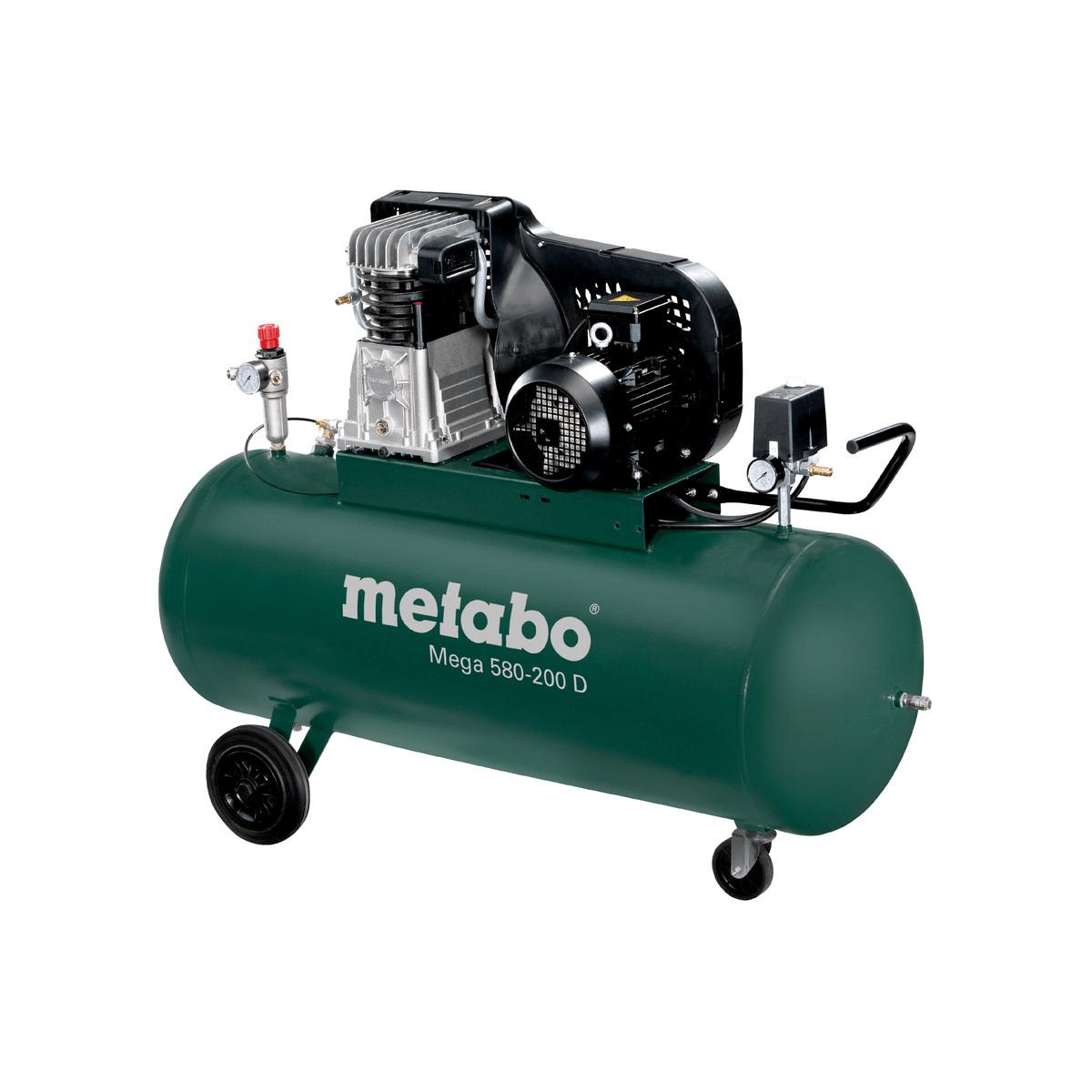 metabo kompressor mega 580 200 d 400 v 200 liter 11 bar. Black Bedroom Furniture Sets. Home Design Ideas