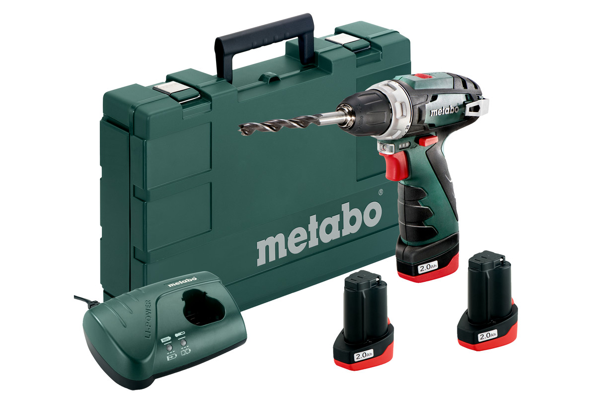 metabo 10 8 volt akku bohrschrauber powermaxx bs basic set 3 li power akkupacks 10 8 v 2 0ah. Black Bedroom Furniture Sets. Home Design Ideas