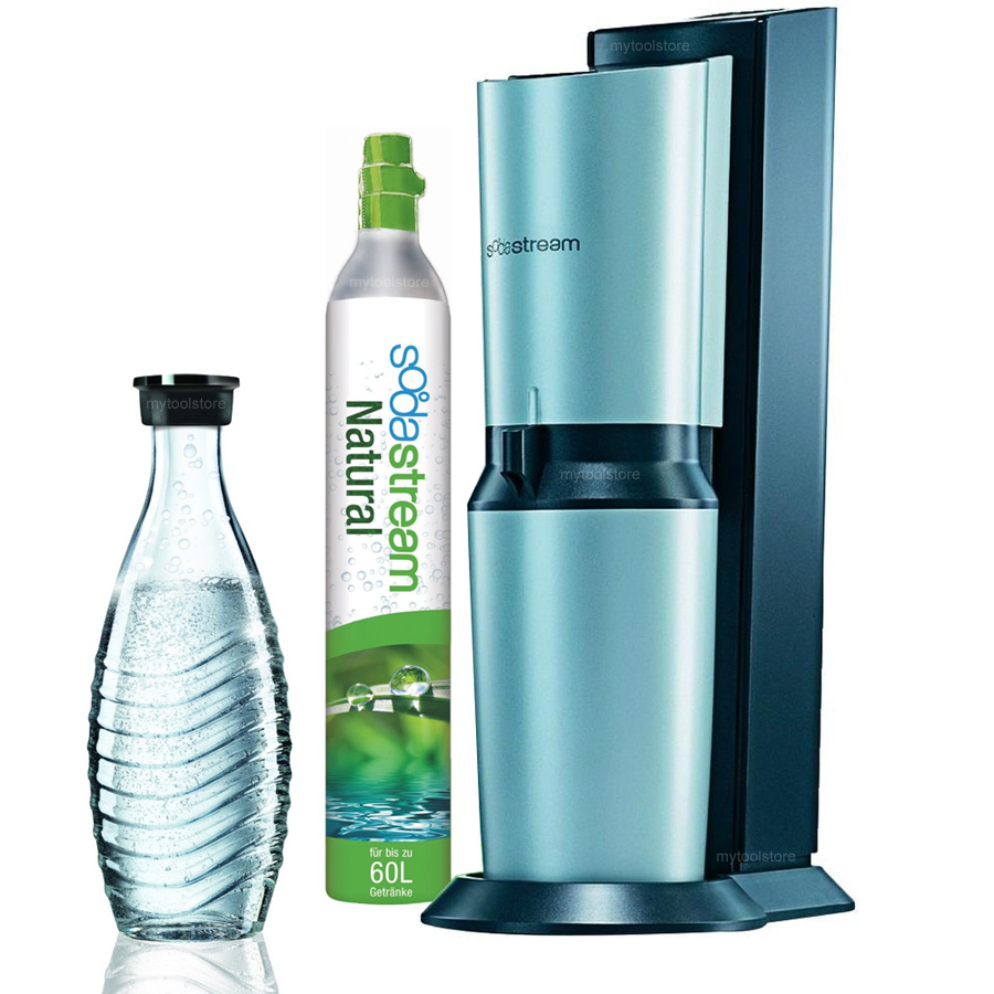 sodastream set machine cristal gaz ifier l 39 eau du robinet titane argent ebay. Black Bedroom Furniture Sets. Home Design Ideas