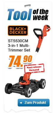 Black & Decker ST5530CM 3-in-1 550W Multi-Trimmer-Set