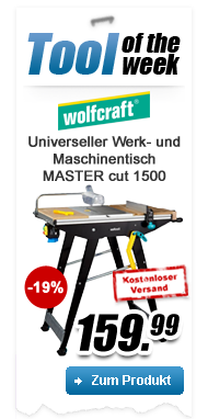 Wolfcraft Table universelle de bricolage MASTER cut 1500