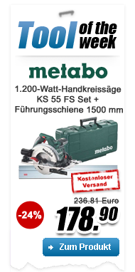 Metabo KS 55 FS Set Scie circulaire portative, coffret, rail de guidage - 690738000