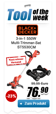 Black + Decker 3-in-1 550W Multi-Trimmer-Set ST5530CM